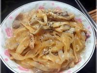 蘑菇白醬炒寬粉♥