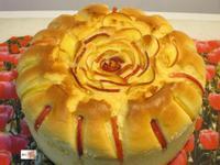 蘋果花戚風蛋糕
