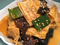 下飯菜~ 蔥燒木耳豆皮