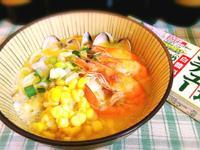 海鮮玉米奶油拉麵【好侍北海道白醬料理】