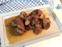 蔥燒黑胡椒滷排骨 Staub鑄鐵鍋