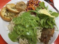 《菠菜(白)醬義大利麵》