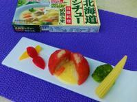 蕃茄燉飯佐奶油玉米白醬(前菜料理)