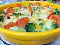 焗烤白醬雙色蔬菜