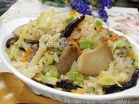 ♥憶柔蔬食 ♥麻油杏鮑菇高麗菜飯