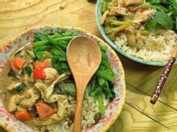 泰式蔬菜綠咖哩