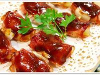 小烤箱料理  鳳梨培根烤肉串