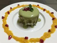 抹茶紅豆千層蛋糕