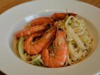 鮮蝦白菜炒麵。簡易版海鮮炒麵~