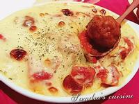 蕃茄起司雞肉丸