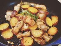 地瓜燉鹹豬肉