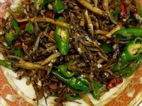簡單料理青辣椒炒小魚