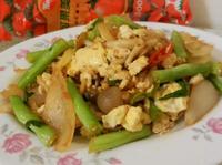 蔥味豬肉青蔬炒蛋-蕃茄醬懶人料理