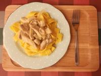 雞肉蘑菇奶油義大利麵