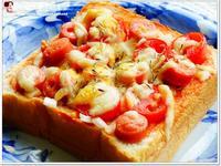 焗烤明太子魚香腸吐司披薩~蕃茄醬懶人料理