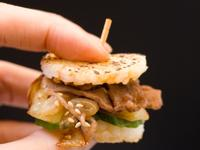 迷你的燒肉米漢堡,10分鐘快速完成!!
