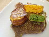 寶寶愛吃菜~小松菜鯛魚燒&紅蘿蔔鯛魚燒