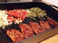 懶人晚餐 - 烤蔬菜 + 照燒豬肉