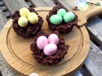 超討喜復活節主題點心 巧克力鳥巢