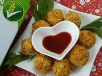 無油料理─炸雞肉丸子『雀巢玉米脆片』