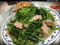 鹽麴五花豬菠菜