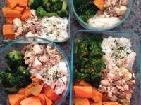 [便當]魚香豆腐、三杯花椰菜、蒸地瓜