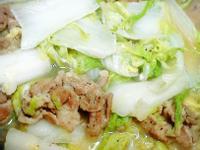 大白菜燴豬肉片