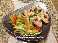 地中海風味義式烤鮭魚