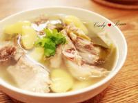 青蒜皇帝豆排骨湯