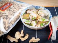 鮮菇肉片蛤蠣湯@Selina Wu