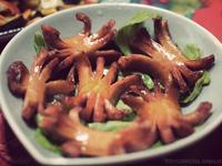 下酒菜:小螃蟹德國香腸