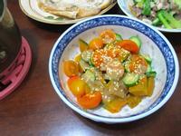 南瓜番茄胡麻沙拉