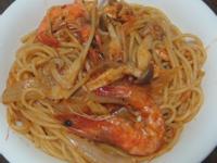 茄汁鮮蝦菇菇義大利麵-好菇道美味家廚
