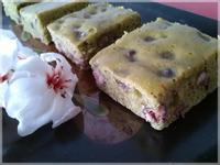 抹茶紅豆快速蛋糕♥免打發、無油配方