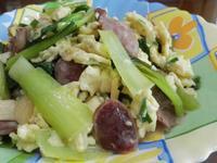 青江菜香腸嫩蛋