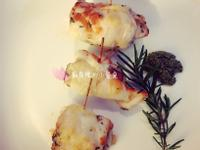 (廚房𥚃的小餐桌)起士茄子雞肉捲佐青醬