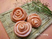 紅麴玫瑰花饅頭