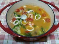 鑄鐵鍋 蕃茄海鮮糙米湯