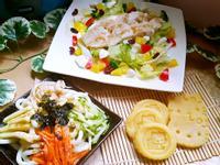 一鍋上桌:綠豆雪糕+鳳梨雞沙拉+麻醬涼麵