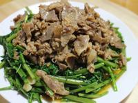 蝦醬羊肉空心菜&羊肉意麵