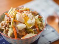 野菜豬肉丼