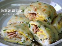 自製蔥香蛋餅皮 + 蔥香鮪魚蛋餅