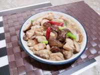 鮮香菇炒嫩雞