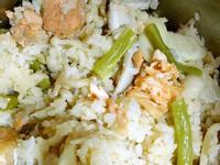 奶油鮭魚時蔬炊飯(電鍋版)