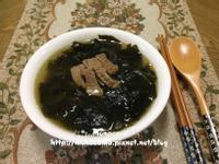 韓式牛肉海帶湯쇠고기미역국