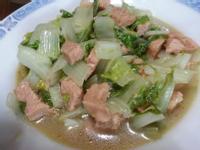 火腿素炒小白菜~~^-^(素食)