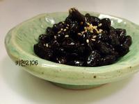 韓國常備菜--醬煮黑豆--콩자반