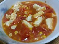 蕃茄玉米香豆腐~~~^-^(素食)