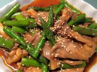下飯菜! 辣炒蘆筍秀珍菇
