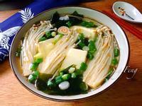金針菇海帶豆腐湯